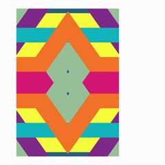 Colorful rhombus and stripes Small Garden Flag