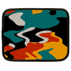 Misc shapes in retro colors Netbook Case (Large)
