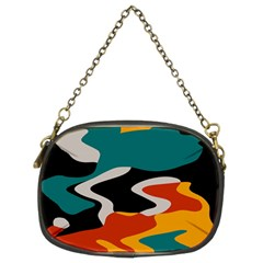 Misc shapes in retro colors Chain Purse (Two Sides)