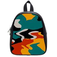 Misc shapes in retro colors School Bag (Small)