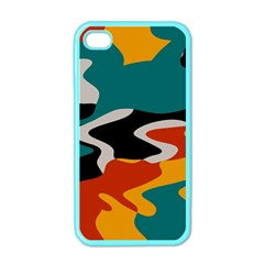 Misc shapes in retro colors Apple iPhone 4 Case (Color)
