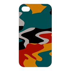 Misc shapes in retro colors Apple iPhone 4/4S Premium Hardshell Case