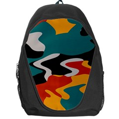 Misc Shapes In Retro Colors Backpack Bag