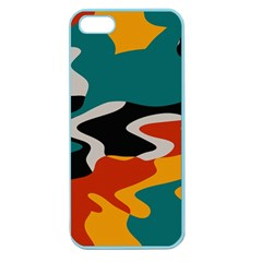 Misc shapes in retro colors Apple Seamless iPhone 5 Case (Color)