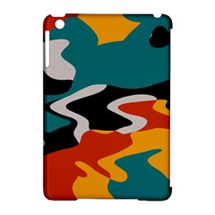 Misc shapes in retro colors Apple iPad Mini Hardshell Case (Compatible with Smart Cover)