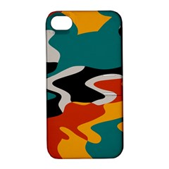Misc shapes in retro colors Apple iPhone 4/4S Hardshell Case with Stand