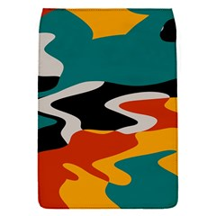 Misc shapes in retro colors Removable Flap Cover (S)