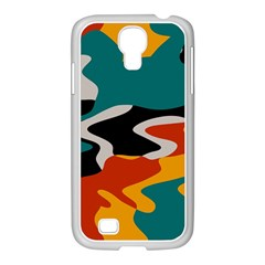 Misc shapes in retro colors Samsung GALAXY S4 I9500/ I9505 Case (White)