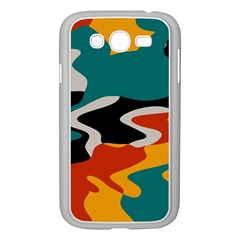 Misc shapes in retro colors Samsung Galaxy Grand DUOS I9082 Case (White)