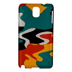 Misc shapes in retro colors Samsung Galaxy Note 3 N9005 Hardshell Case