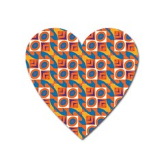 Squares and other shapes pattern Magnet (Heart)