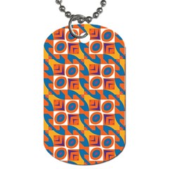 Squares and other shapes pattern Dog Tag (One Side)