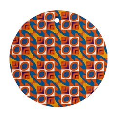Squares and other shapes pattern Round Ornament (Two Sides)