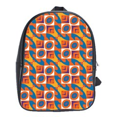 Squares and other shapes pattern School Bag (Large)