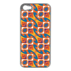 Squares and other shapes pattern Apple iPhone 5 Case (Silver)