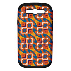 Squares and other shapes pattern Samsung Galaxy S III Hardshell Case (PC+Silicone)