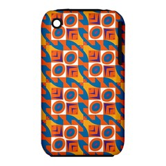 Squares and other shapes pattern Apple iPhone 3G/3GS Hardshell Case (PC+Silicone)