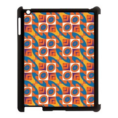 Squares and other shapes pattern Apple iPad 3/4 Case (Black)