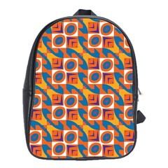 Squares and other shapes pattern School Bag (XL)