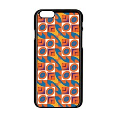 Squares and other shapes pattern Apple iPhone 6 Black Enamel Case