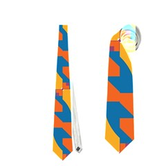Squares and other shapes pattern Necktie