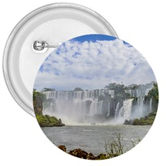 Waterfalls Landscape At Iguazu Park 3  Buttons