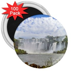 Waterfalls Landscape At Iguazu Park 3  Magnets (100 pack)