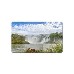 Waterfalls Landscape At Iguazu Park Magnet (Name Card)
