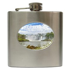 Waterfalls Landscape At Iguazu Park Hip Flask (6 oz)