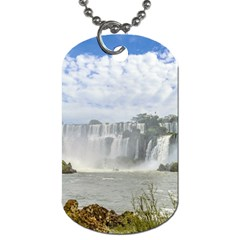 Waterfalls Landscape At Iguazu Park Dog Tag (Two Sides)