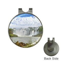 Waterfalls Landscape At Iguazu Park Hat Clips with Golf Markers