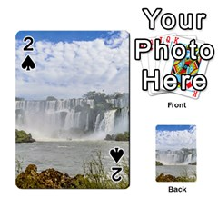 Waterfalls Landscape At Iguazu Park Playing Cards 54 Designs