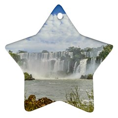 Waterfalls Landscape At Iguazu Park Star Ornament (Two Sides)