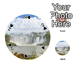 Waterfalls Landscape At Iguazu Park Playing Cards 54 (round)