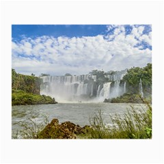 Waterfalls Landscape At Iguazu Park Small Glasses Cloth (2-Side)