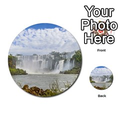 Waterfalls Landscape At Iguazu Park Multi-purpose Cards (Round)