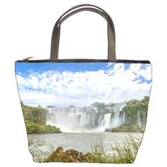 Waterfalls Landscape At Iguazu Park Bucket Bags