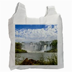 Waterfalls Landscape At Iguazu Park Recycle Bag (Two Side)