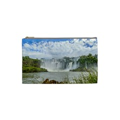 Waterfalls Landscape At Iguazu Park Cosmetic Bag (Small)