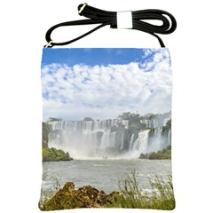 Waterfalls Landscape At Iguazu Park Shoulder Sling Bags