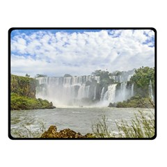 Waterfalls Landscape At Iguazu Park Fleece Blanket (Small)