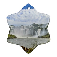 Waterfalls Landscape At Iguazu Park Ornament (snowflake)