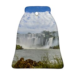 Waterfalls Landscape At Iguazu Park Bell Ornament (2 Sides)