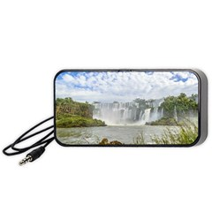 Waterfalls Landscape At Iguazu Park Portable Speaker (black)