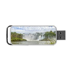 Waterfalls Landscape At Iguazu Park Portable USB Flash (Two Sides)