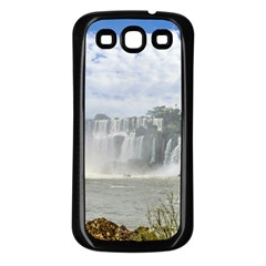 Waterfalls Landscape At Iguazu Park Samsung Galaxy S3 Back Case (Black)