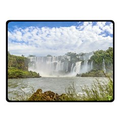 Waterfalls Landscape At Iguazu Park Double Sided Fleece Blanket (Small)