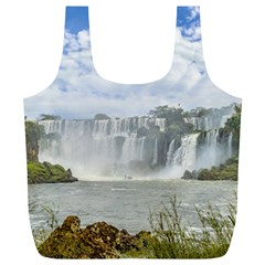 Waterfalls Landscape At Iguazu Park Full Print Recycle Bags (L)
