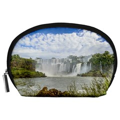 Waterfalls Landscape At Iguazu Park Accessory Pouches (Large)