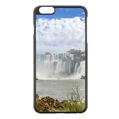 Waterfalls Landscape At Iguazu Park Apple iPhone 6 Plus/6S Plus Black Enamel Case